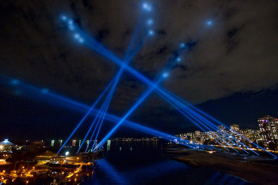 Vectorial Elevation by Rafael Lozano-Hemmer at Vancouver 2010 Cultural Olympiad